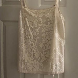 ANTHROPOLOGIE lace tank with tie